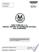 FERC Form No  2 A  Annual Report of Nonmajor Natural Gas Companies