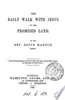 The daily walk with Jesus in the promised land Book