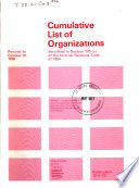 Cumulative List Of Organizations Described In Section 170 C Of The Internal Revenue Code Of 1954