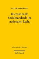 Internationale Sozialstandards im nationalen Recht: Eine ...