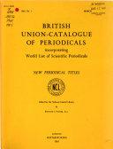 British Union Catalogue Of Periodicals