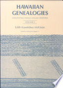 Hawaiian Genealogies Book