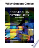 Research In Psychology Methods and Design Book