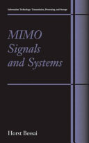 MIMO Signals and Systems [Pdf/ePub] eBook