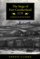 Pdf Siege of Fort Cumberland, 1776 Telecharger