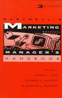 Dartnell S Marketing Manager S Handbook Book PDF