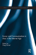 Pdf Rumor and Communication in Asia in the Internet Age
