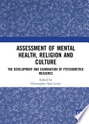 Assessment Of Mental Health Religion And Culture Book PDF