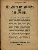The Secret Instructions of the Jesuits