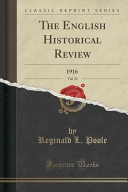 The English Historical Review Vol 31