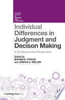 Individual Differences In Judgement And Decision Making Book PDF