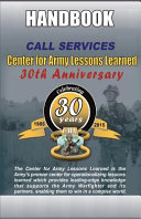 Center for Army Lessons Learned Services Handbook