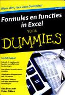 Formules En Functies In Excel Voor Dummies
