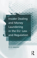 Pdf Insider Dealing and Money Laundering in the EU: Law and Regulation Telecharger