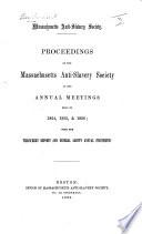 Proceedings     at the annual meetings held in 1854  1855   1856  etc Book