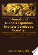 International Business Expansion Into Less Developed Countries