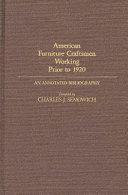 American Furniture Craftsmen Working Prior To 1920