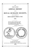 Annual report of the Royal Humane Society