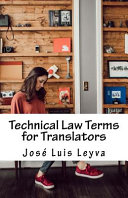Technical Law Terms for Translators