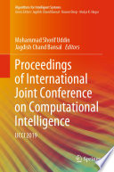 Proceedings of International Joint Conference on Computational Intelligence Book