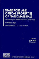 Transport and Optical Properties of Nanomaterials