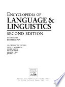 The Encyclopedia of Language and Linguistics: Leb-Mei