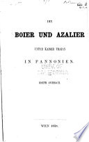 Die Boier und Azalier unter kaiser Traian in Pannonien
