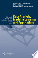 Data Analysis Machine Learning And Applications Book PDF