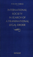 International Society in Search of a Transnational Legal Order