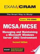 MCSA MCSE 70 290 Exam Cram
