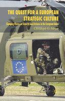 Pdf The Quest for a European Strategic Culture Telecharger