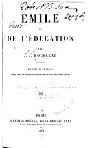 Emile Ou De J'Education