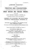 Hertslet s Commercial Treaties Book