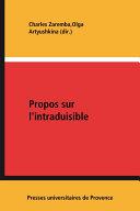Propos sur l'intraduisible Pdf/ePub eBook
