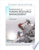 Fundamentals of Human Resource Management, Student Value Edition