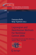 Pdf Lagrangian and Hamiltonian Methods For Nonlinear Control 2006 Telecharger