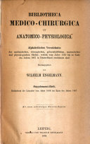 Bibliotheca medico-chirurgica et anatomico-physiologica