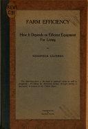 Farm Efficiency