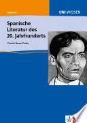 Spanische Literatur des 20. Jahrhunderts