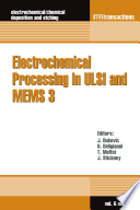 Electrochemical Processing in ULSI and MEMS 3 Book