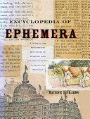 Encyclopedia of Ephemera Pdf/ePub eBook