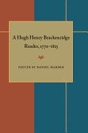 A Hugh Henry Brackenridge Reader  1770 1815