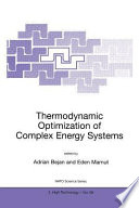 Thermodynamic Optimization Of Complex Energy Systems Book PDF