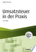 Öffnen Sie das Medium Umsatzsteuer in der Praxis von Weimann, Rüdiger im Bibliothekskatalog