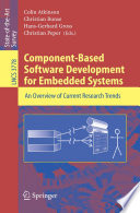 Component Based Software Development for Embedded Systems