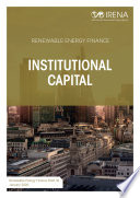 Renewable energy finance  Institutional capital
