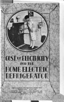 Cost of Electricity for the Home Electric Refrigerator Book