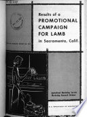 Results of a Promotional Campaign for Lamb in Sacramento, Calif