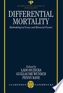 Differential Mortality  : Methodological Issues and Biosocial Factors
