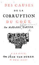 Des causes de la corruption du goust